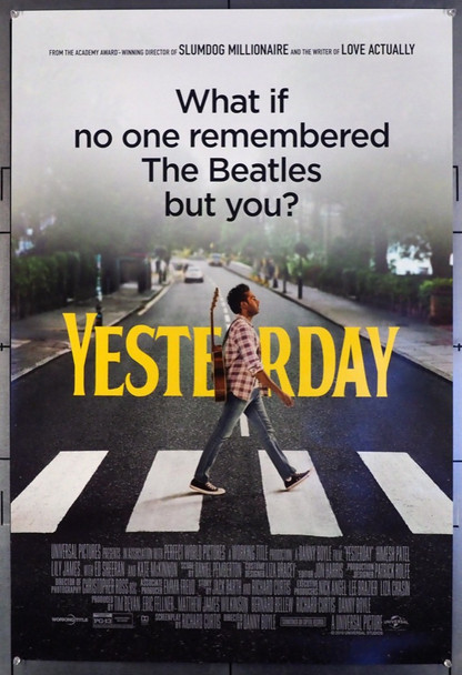 YESTERDAY (2019) 28670 Original U.S. One-Sheet Poster (27x40) Rolled  Very Fine Condition
