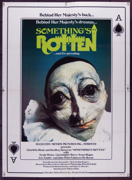 SOMETHING'S ROTTEN (1971) 22554 Dabara Films Original Canadian Poster  25x34  Folded  Fine Plus Condition