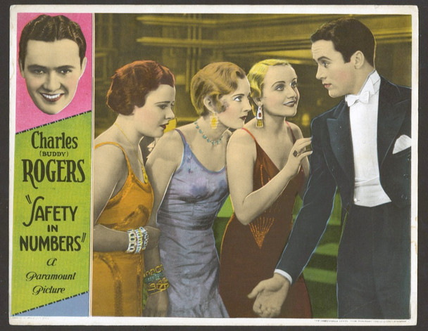 SAFETY IN NUMBERS (1930) 19744  CHARLES BUDDY ROGERS   CAROLE LOMBARD Paramount PIctures Original U.S. Scene Lobby Card  (11x14)  Very Fine Condition