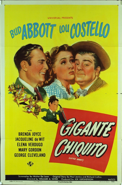 LITTLE GIANT (1946) 7861 Original Universal Pictures One Sheet Poster for Spanish-Speaking Audiences (27x41). Very fine condition.