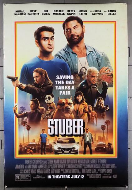 STUBER (2019) 28666   DAVE BAUTISTA   MIRA SORVINO   KUMAIL NANJIANI   Disney Company Original U.S. One-Sheet Poster  (27x40) Rolled  Fine Plus