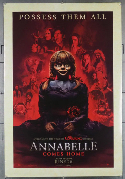 ANNABELLE COMES HOME (2019) 28652 Warner Brothers Original U.S. One-Sheet Poster (2019)  Double-Sided  Gently Theater-Used   27x40