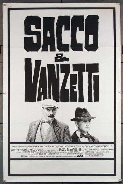 SACCO E VANZETTI (1971) 38 UMC Original U.S. One-Sheet Poster (27x41) Folded  Fine Plus Condition