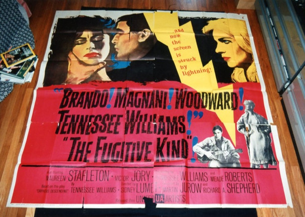 FUGITIVE KIND, THE (1960) 7632   MARLON BRANDO   ANNA MAGNANI   JOANNE WOODWARD Original United Artists Six Sheet Poster (81x81).  Folded.  Very Good Condition.