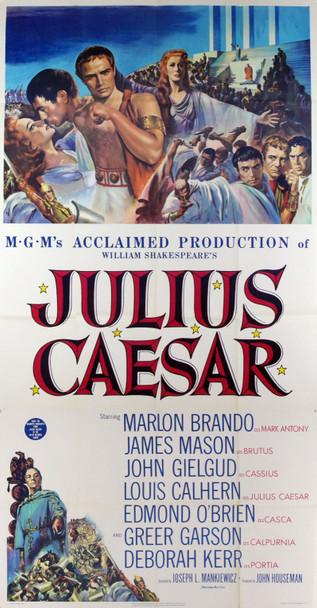 JULIUS CAESAR (1953) 9175    MARLON BRANDO Original MGM Three Sheet Poster.  41x81.  Very Good Condition