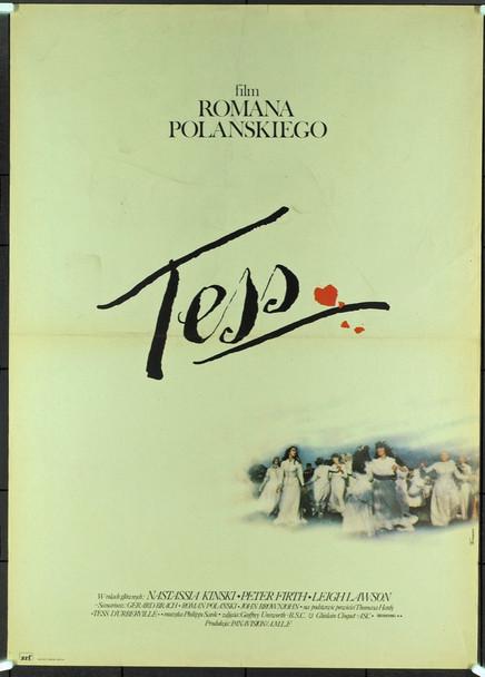 TESS (1981) 5574  POLISH POSTER WITH ART BY FERRARI Original Polish Poster (27x38). Very Fine Condition.  Art by Ferrari