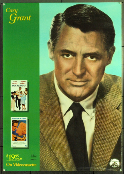 CARY GRANT 21194  MID-EIGHTIES VIDEO POSTER Original Paramount Home Video Poster. 26 x 37. Rolled. Very Fine.