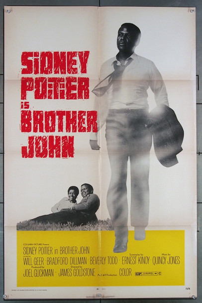 BROTHER JOHN (1971) 682   SIDNEY POITIER Original Columbia Pictures One Sheet Poster (27x41).   Average Used Condition