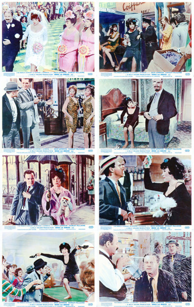 IRMA LA DOUCE (1963) 4963 Original Complete Set Of British Front Of House Cards (8x10).   Very Fine Plus