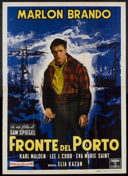 ON THE WATERFRONT (1954) 16662     MARLON BRANDO    ELIA KAZAN ON THE WATERFRONT Original Italian 1960 Re-Release Four Sheet Poster (79x55). Very Good Condition.