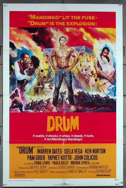 DRUM (1976) 683    WARREN OATES Original United Artists One Sheet Poster (27x41)  Folded  Very Fine