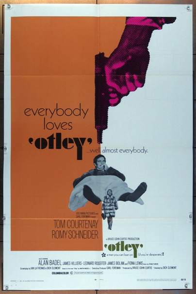 OTLEY (1968) 26124 Columbia Pictures Original U.S. One-Sheet Poster (27x41) Folded  Fine Condition