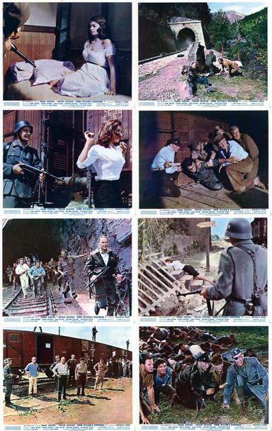 VON RYAN'S EXPRESS (1965) 4968    FRANK SINATRA   TREVOR HOWARD   JAMES BROLIN Original British Set of 8 Front of House Cards (8x10). Very Fine