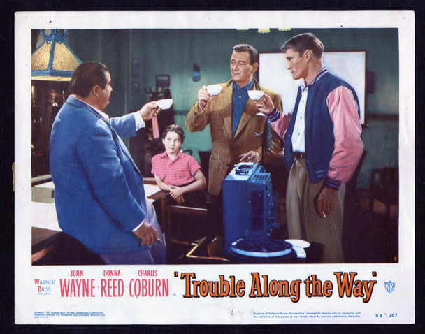 TROUBLE ALONG THE WAY (1953) 26877 Warner Brothers Original Scene Lobby Card (11x14) Fine Plus Condition