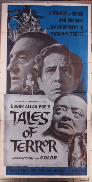TALES OF TERROR (1962) 4893 Original American International Pictures Three Sheet Poster (41x81). Very Good Plus to Fine Condition