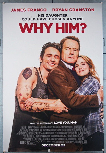 WHY HIM? (2016) 26366 Original Fox 2016 Release One Sheet Poster (27x41) Directed by John Hamburg and Featuring Bryan Cranston