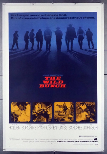 WILD BUNCH, THE (1969) 28713 Warner Brothers Original U.S. One-Sheet Poster (27x41) Linen Backed  Fine Plus to Very Fine Condition