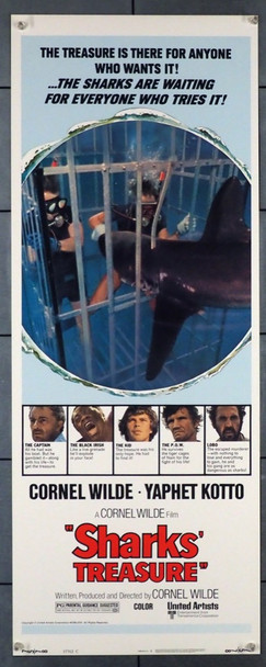 SHARKS' TREASURE (1975) 28278 United Artists Original U.S. Insert Poster (14x36) Very Fine Condition