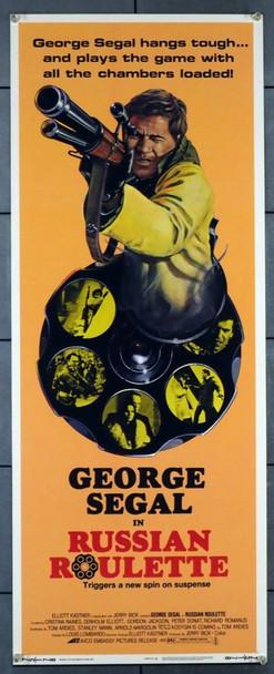 RUSSIAN ROULETTE (1975) 28277 Avco Embassy Original U.S. Insert Poster (14x36) Very Fine Condition