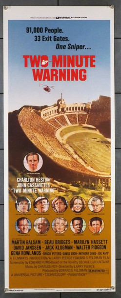 TWO-MINUTE WARNING (1976) 28289 Universal PIctures Original U.S. Insert Poster (14x36)  Rolled  Very Fine Condition