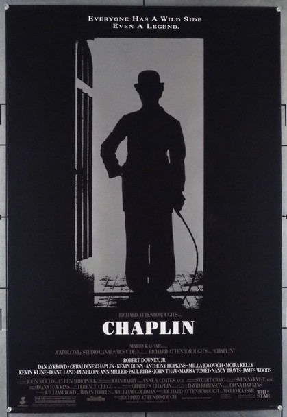 CHAPLIN (1992) 5009 Original Tri-Star One-Sheet Poster (27x41) Rolled  Very Fine Plus  Single Sided