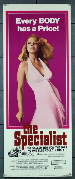 SPECIALIST, THE (1975) 28283 Crown International Pictures Original U.S. Insert Poster (14x36) Very Fine Condition
