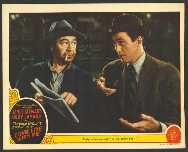 COME LIVE WITH ME (1941) 28728   DONALD MEEK and JAMES STEWART MGM Original U.S. Scene Lobby Card  Slightly Trimmed  Nominally 11x14  Good Condition  Average Used