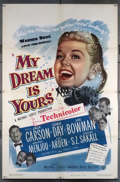 MY DREAM IS YOURS (1949) 7686 Warner Brothers Original U.S. One-Sheet Poster (27x41) Folded  Very Fine Plus Condition