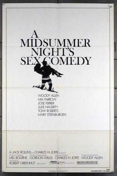 MIDSUMMER NIGHT'S SEX COMEDY, A (1982) 7662 Orion PIctures Original U.S. One-Sheet Poster (27x41) Folded  Very Good Condition