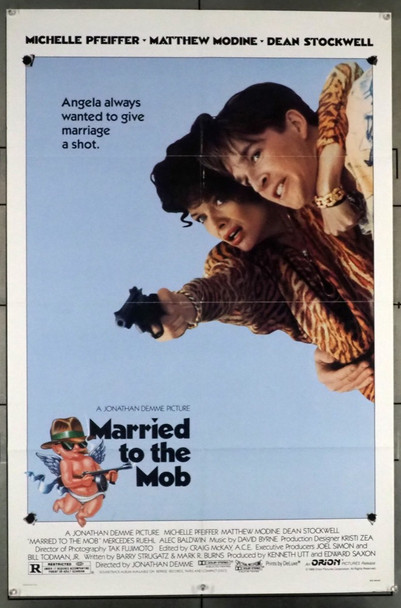 MARRIED TO THE MOB (1988) 15 Original U.S. One-Sheet Poster (27x41) Folded  Fine Plus Condition