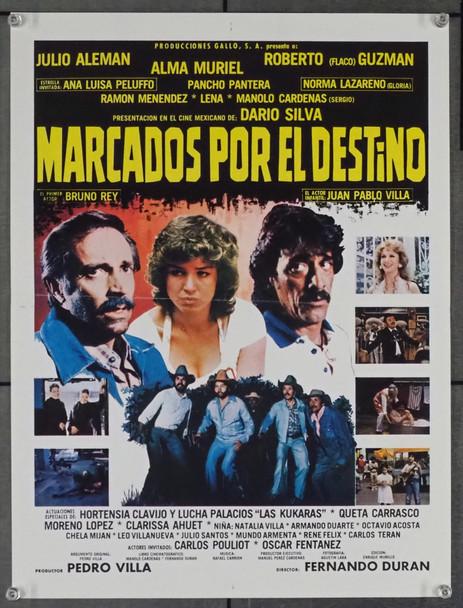 MARCADOS POR EL DESTINO (1990) 28771   Directed FERNANDO DURAN Original Mexican 13x18 Poster  Folded  Very Fine Condition