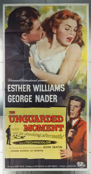 UNGUARDED MOMENT, THE (1956) 7616 Universal PIctures Original U.S. Three Sheet Poster (41x81)  Very Fine Plus Condition