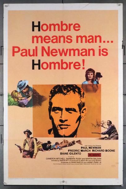 HOMBRE (1966) 28743        PAUL NEWMAN 20th Century Fox Original U.S. One-Sheet Poster (27x41) Folded  Very Good Condition