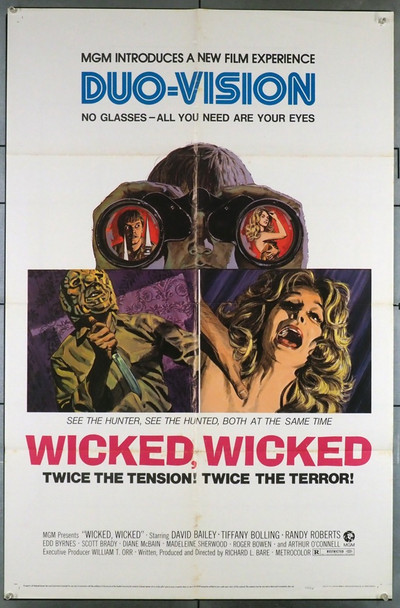 WICKED WICKED (1973) 3522 MGM Original U.S. One-Sheet Poster (27x41) Folded  Very Good Condition