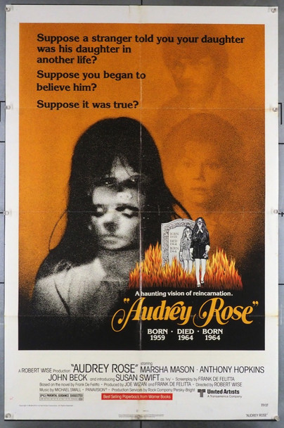AUDREY ROSE (1977) 3527 United Artists Original U.S. One-Sheet Poster (27x41) Folded  Good Condition