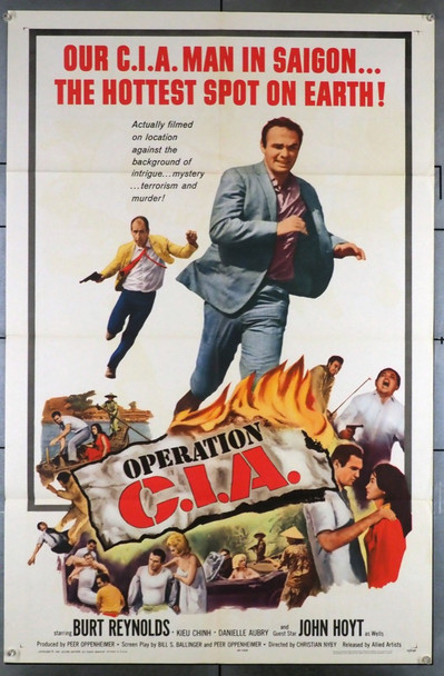 OPERATION C.I.A. (1965) 3535 Allied Artists Original U.S. One-Sheet Poster (27x41) Folded  Very Fine