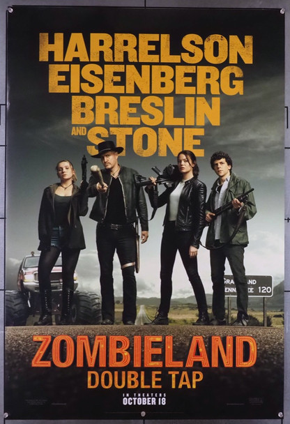 ZOMBIELAND: DOUBLE TAP (2019) 28792 Original U.S. One-Sheet Poster (27x40) Rolled  Very Fine Condition  Double-Sided