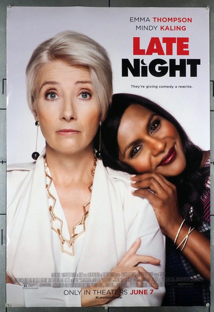 LATE NIGHT (2019) 28786 Original U.S. One-Sheet Poster (27x40) Rolled Double-Sided  Very Fine Condition