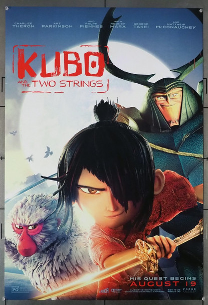 KUBO AND THE TWO STRINGS (2016) 26374 Focus Features Original U.S. One-Sheet Poster (27x40) Rolled  Double-Sided  Very Fine