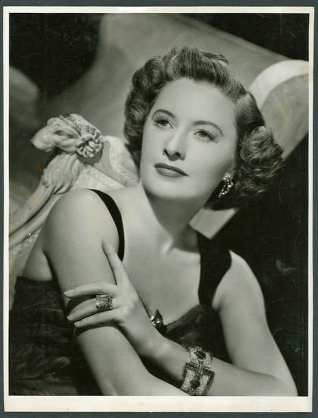 BARBARA STANWYCK (30'S) 19882    GELATIN SILVER PRINT 10X13.5 Gelatin Silver Print of Barbara Stanwyck  Date circa 1950s  Very Fine Condition