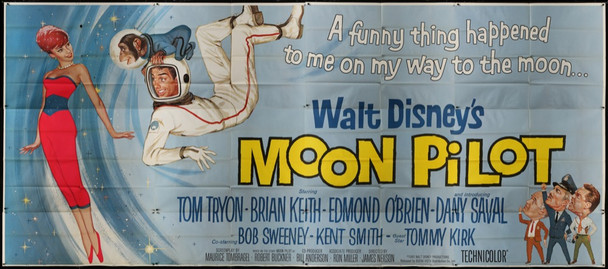 MOON PILOT (1962) 28380 Original U.S. Twenty-Four Sheet Poster (9 feet X 20 feet)  Never Used  Very Fine Condition