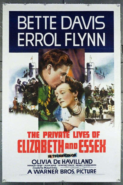 PRIVATE LIVES OF ELIZABETH AND ESSEX, THE (1939) 28707 Warner Brothers Original U.S. One-Sheet Poster (27x41) Linen Backed   Very Fine Condition