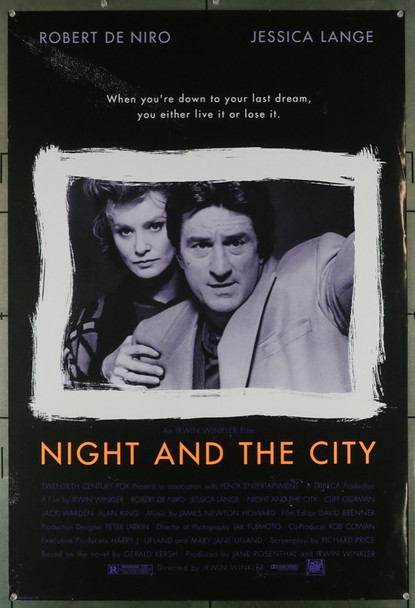 NIGHT AND THE CITY (1992) 5098 20th Century Fox Original U.S. One-Sheet Poster (27x41) Rolled  Very Fine Condition