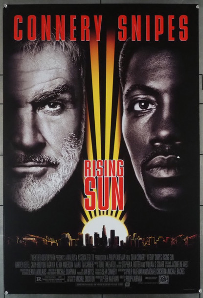 RISING SUN (1993) 5333 20th Century Fox Original U.S. One-Sheet Poster (27x41) Rolled  Very Good Condition