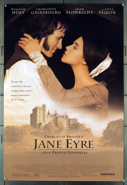 JANE EYRE (1996) 6890   WILLIAM HURT   CHARLOTTE GAINSBOURG Miramax Original U.S. One-Sheet Poster (27x40) Rolled Very Fine Condition