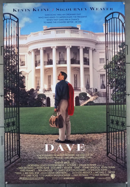 DAVE (1993) 5183 Warner Brothers Original U.S. One-Sheet Poster (27x40) Double Sided  Fine Plus Condition