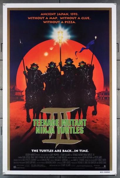 TEENAGE MUTANT NINJA TURTLES 3 (1993) 5126 New Line Cinema Original U.S. One-Sheet Poster (27x41) Rolled  Fine Plus Condition