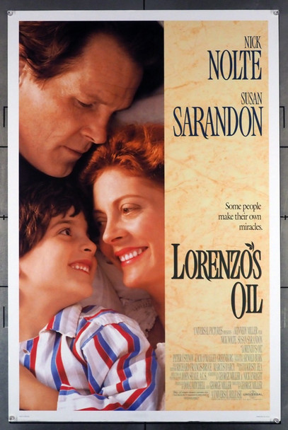 LORENZO'S OIL (1992) 5123 Universal Pictures Original U.S. One-Sheet Poster (27x41) Rolled  Fine Plus Condition