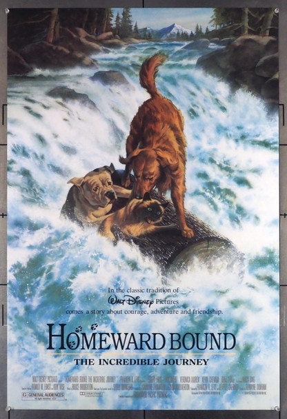 HOMEWARD BOUND: THE INCREDIBLE JOURNEY (1993) 5125 Walt Disney Pictures Original U.S. One-Sheet Poster (27x40)  Double Sided  Fine Plus Condition