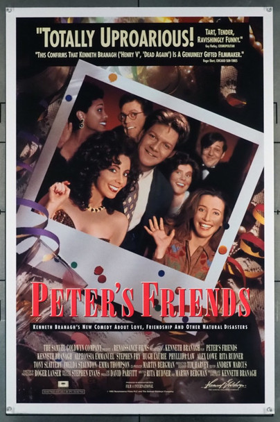 PETER'S FRIENDS (1992) 5013 Samuel Goldwyn Original U.S. One-Sheet Poster (27x41) Never Folded  Fine Plus Condition